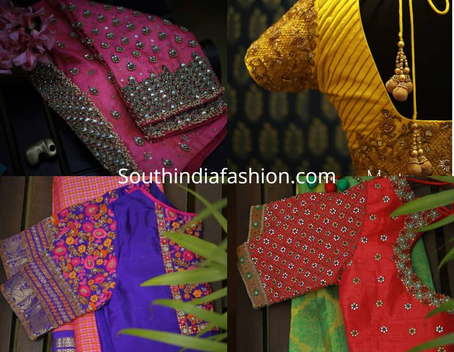 latest pattu saree blouse designs
