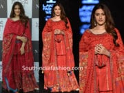 nupur sanon in sukriti & aakriti red sharara