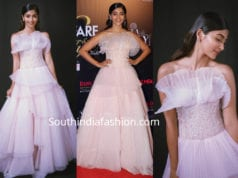 pooja hegde in shriya som gown at filmfare glamour awards