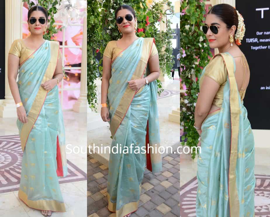 pooja gor in singhanias saree at lakme fashion week