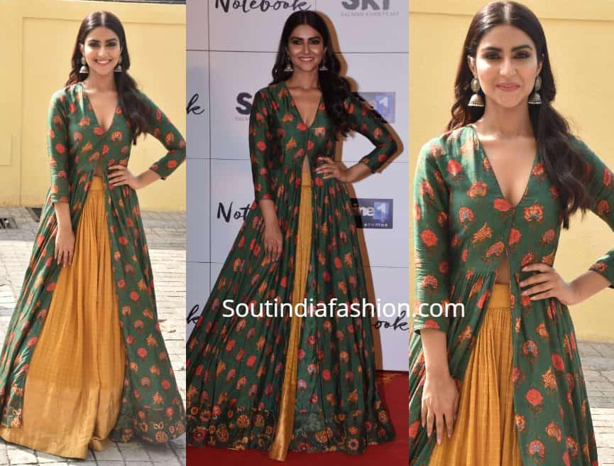 pranutan bahl skirt with slit kurta at notebook trailer launch