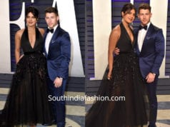 Nick Jonas and Priyanka Chopra attend the Vanity Fair Oscar Party