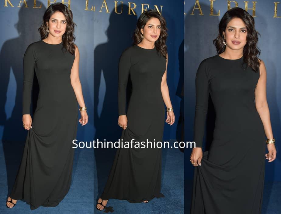 priyanka chopra black dress ralph lauren store launch