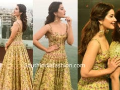 raashi khanna in anushree reddy gown at tsr tv9 awards
