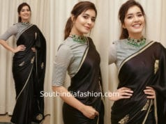 raashi khanna in black saree