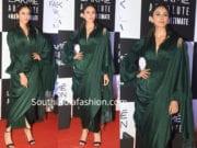 rakul preet singh in green saree drape at lakme fashion week 2019