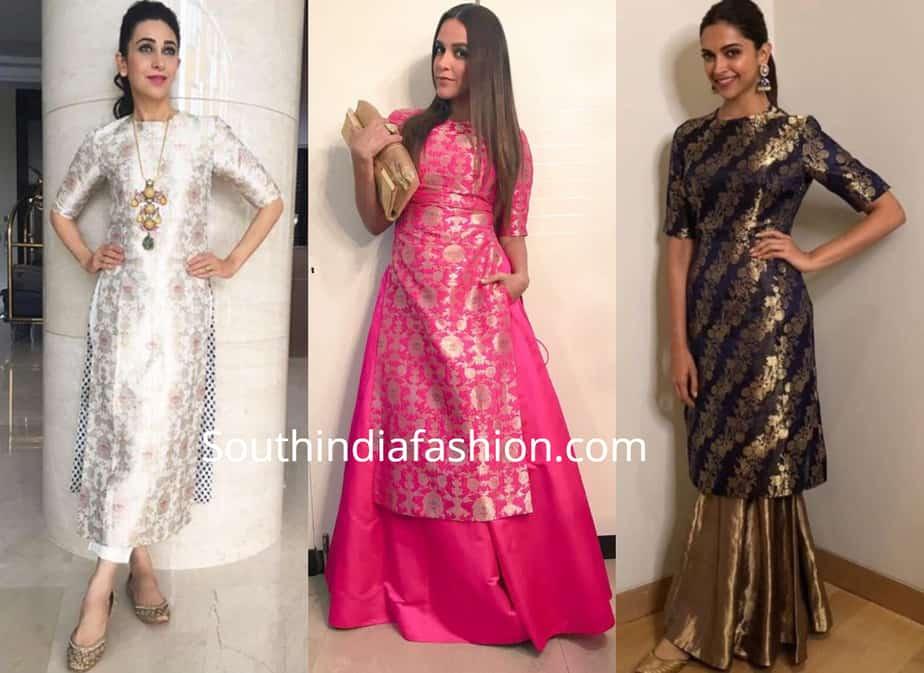 recycle old silk sarees to kurtas