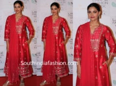 Saiyami Kher in anita dongre dress at lakme fashion week
