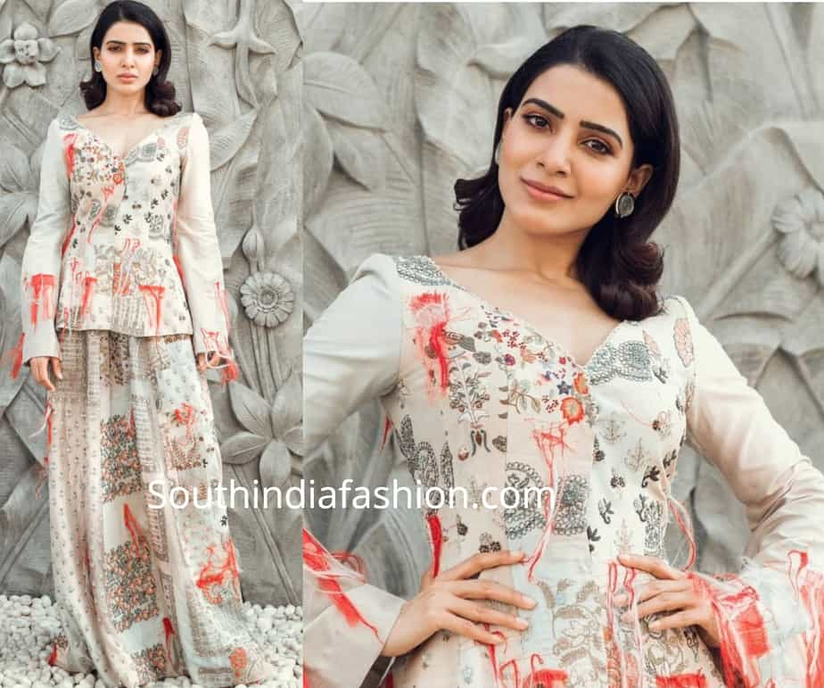 samantha akkineni in anamika khanna dress
