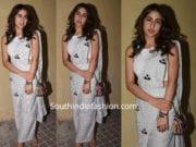 sara ali khan saree pants
