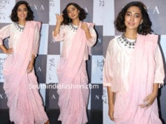 sayani gupta pink saree lakme fashion week 2019