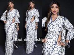 shilpa shetty white saree
