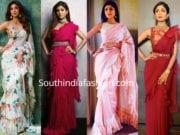 shilpa shetty in ruffle sarees