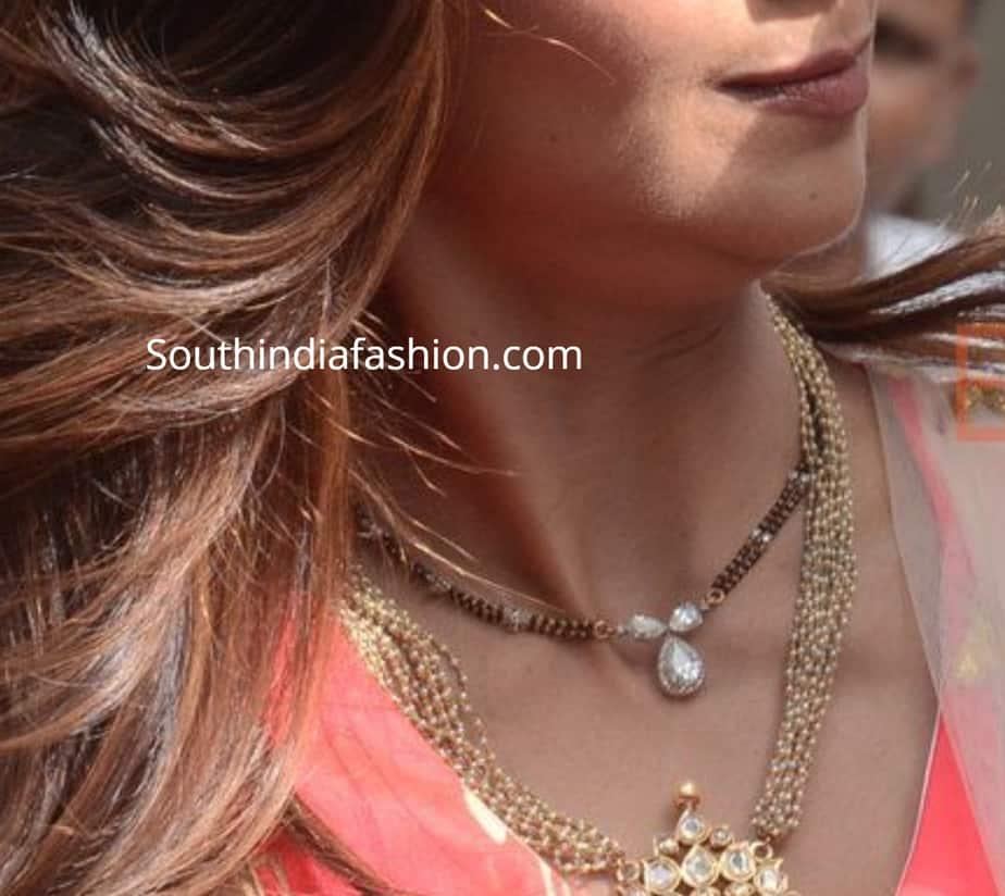 bollywood actress mangalsutra design shilpa shetty