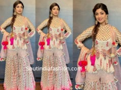 shilpa shetty sharara suit at mehendi ceremony
