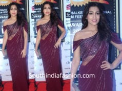 shriya saran saree at dadasaheb phalke awards