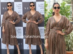 sonal chauhan in punit balana printed dress