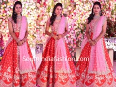 telugu bride in anushree reddy lehenga