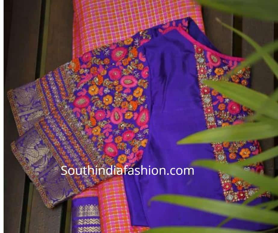 pattu saree blouse designs 2019 new