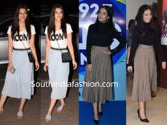kriti son and amruta rao midi skirts