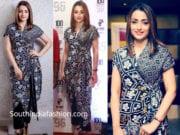 trisha krishnan in black dress at 96 the movie 100 days function
