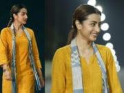 trisha-yellow kurti 96 movie