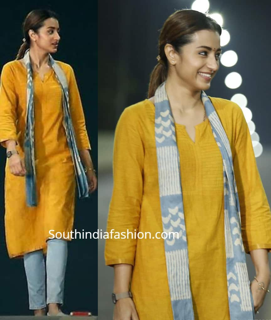 trisha-yellow kurti 96 movie