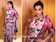 vidya balan printed saree