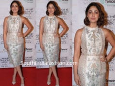 yami gautam in anita dongre dress at lakme fashion week