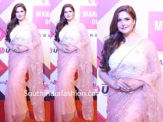 zareen khan saree at lokmat awards
