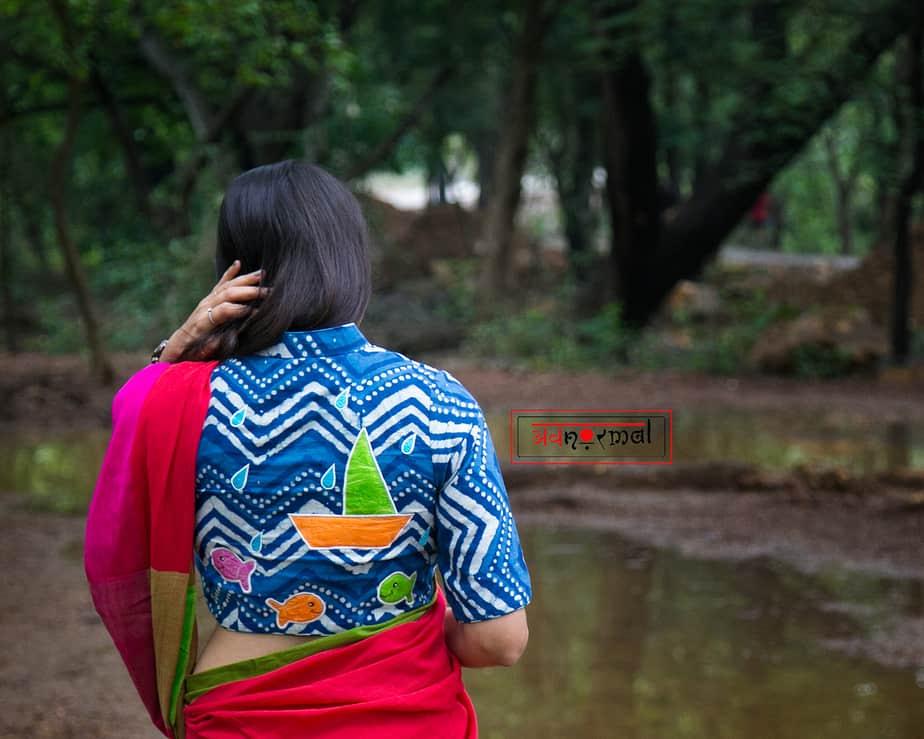 cotton batik print blouse design