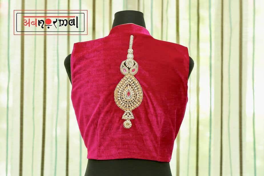 Mang bharo sajna choli blouse design by label abnormal