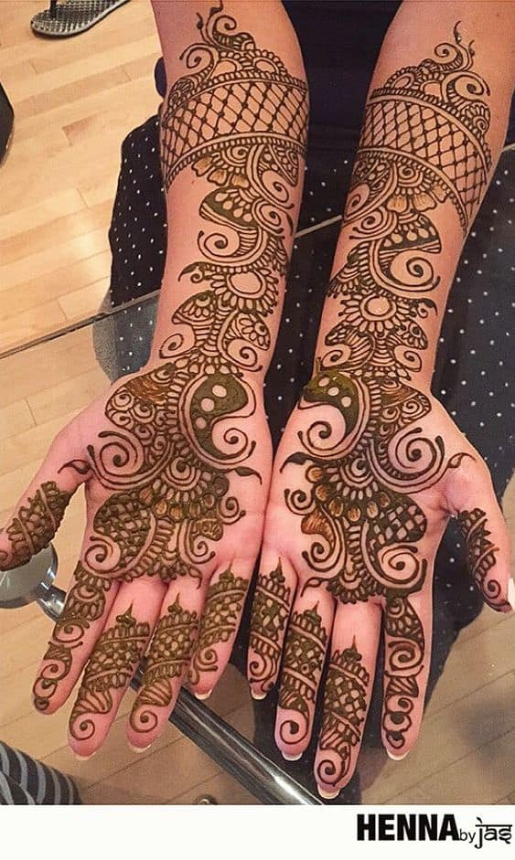 Arabic mehendi designs for the bride