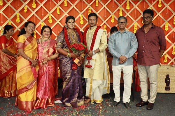 parthiban seetha daughter abinaya wedding