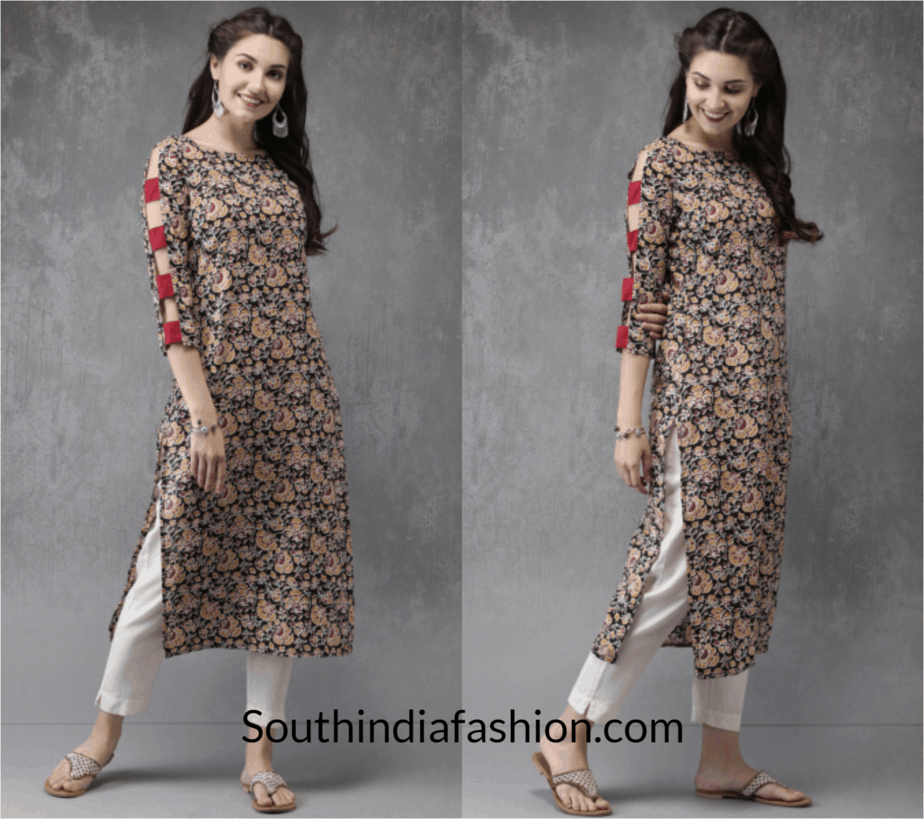 Cut-out-Sleeved-Kurta