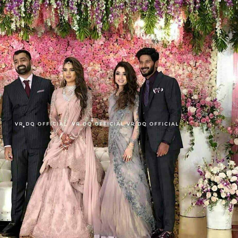 dulquer and amaal at her brother wedding