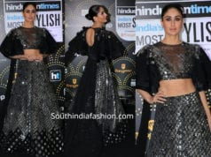 KAREENA KAPOOR IN BLACK LEHENGA AT HT STYLE AWARDS