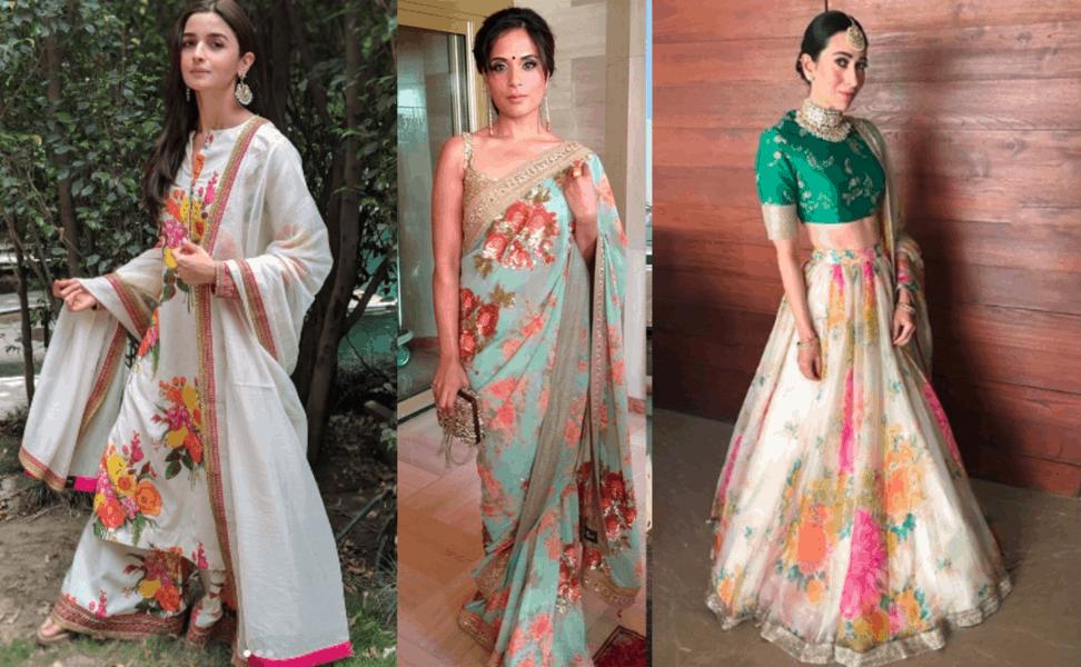 floral print indian dresses