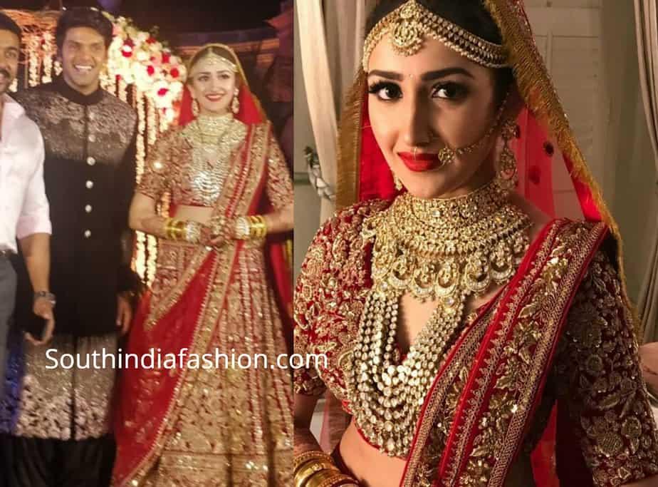 sayyeshaa wedding lehenga