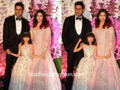aishwarya aaradhya and abhishek bachchan at akash ambani wedding reception