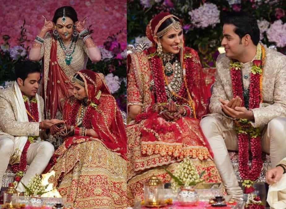 akash ambani shloka mehta wedding photos
