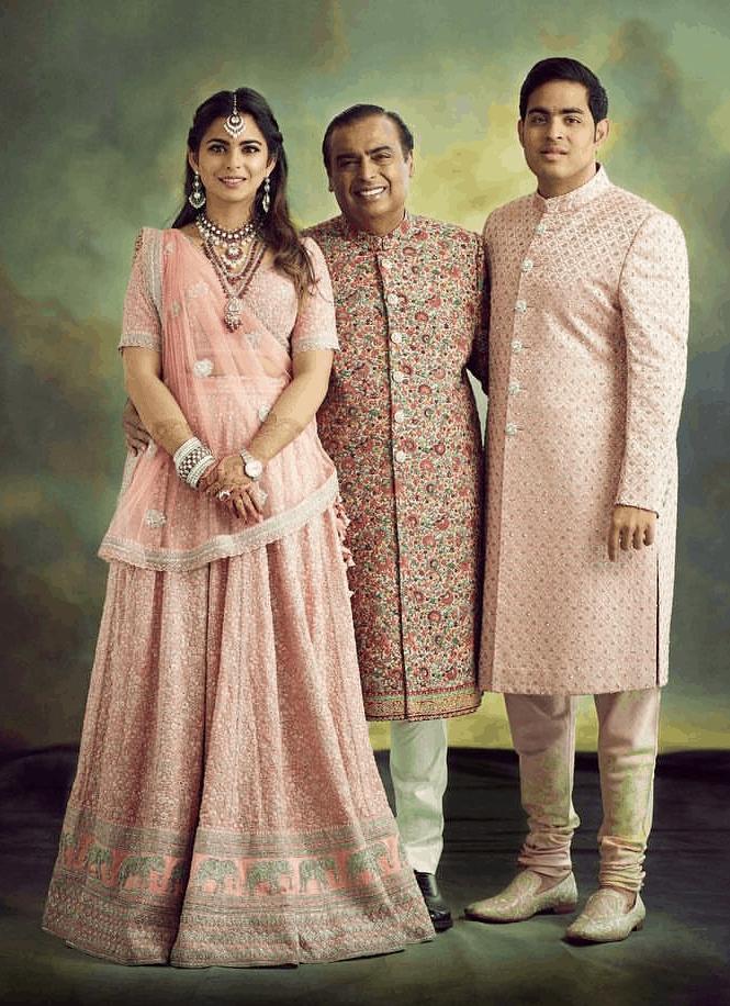 akash ambani marriage images