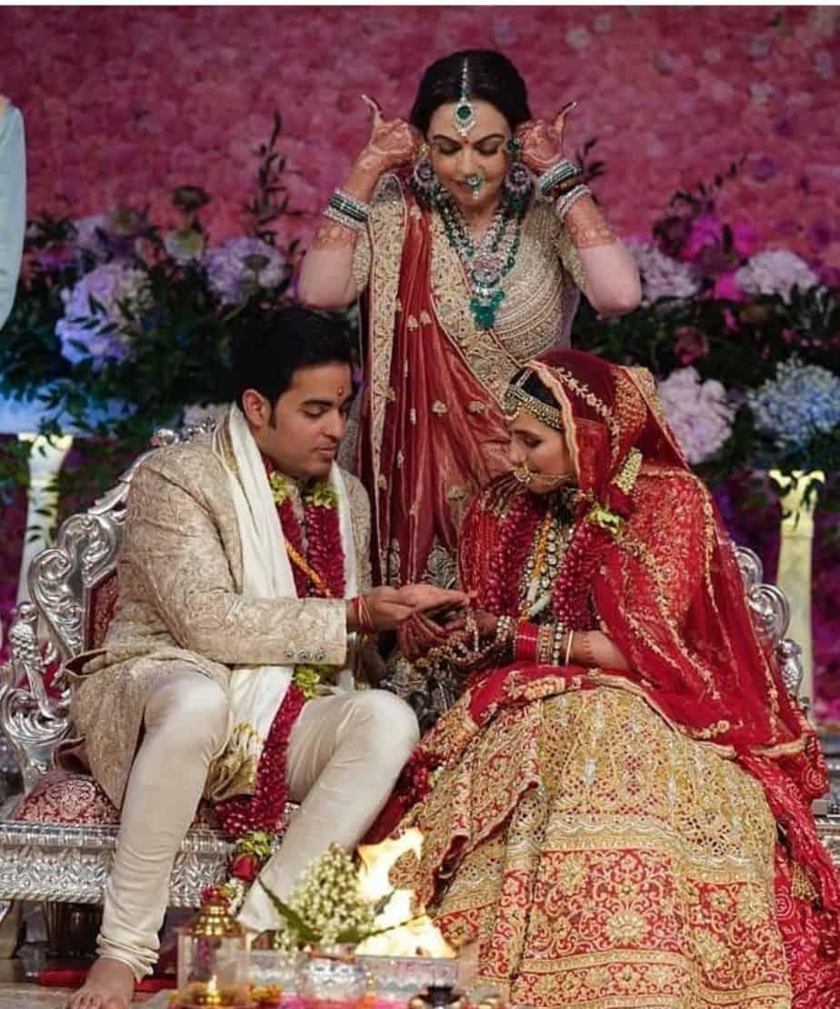 akash ambani shloka mehta marriage pics