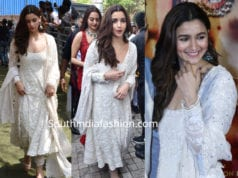 alia bhatt in white salwar kameez at kalank trailer launch
