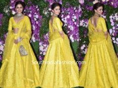 alia bhatt in yellow sabyasachi lehenga