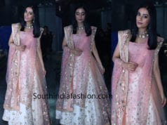 amrita rao in shaina nc white and pink lehenga