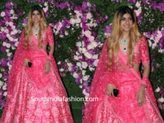 ananya birla in pink lehenga at akash ambani wedding