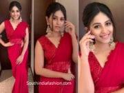 anjali red saree issa studio