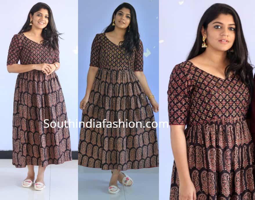 aparna balamurali printed dress at Sarvam Thaala Mayam