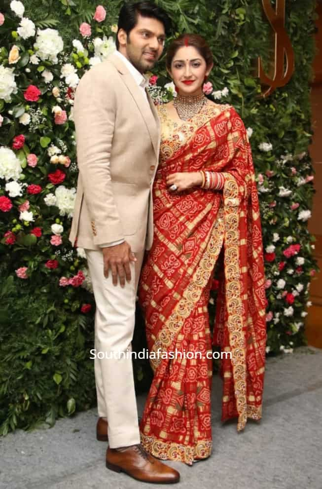 arya sayyeshaa wedding reception for media